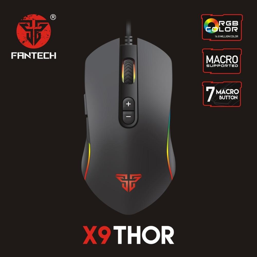Fantech X9 Thor Macro Rgb Gaming Mouse Fantech