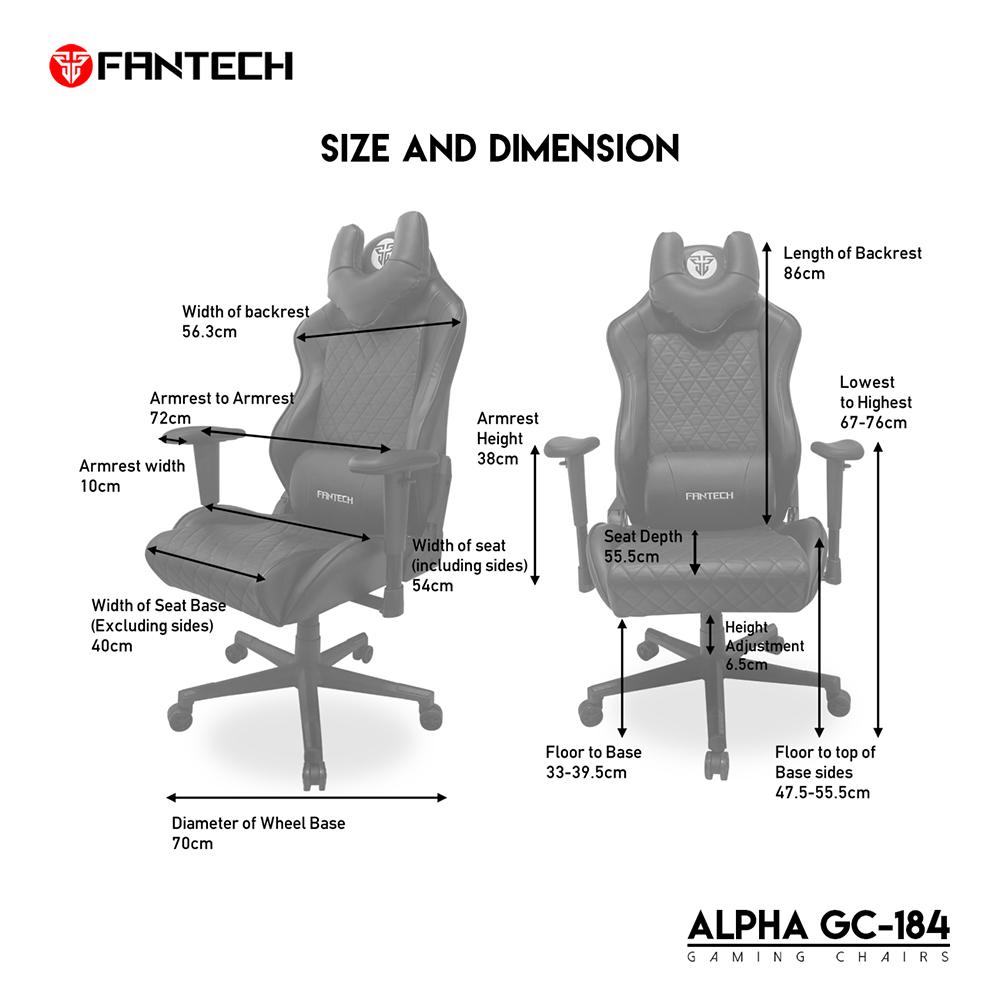 FANTECH Alpha GC-184 Gaming Chair - FANTECH