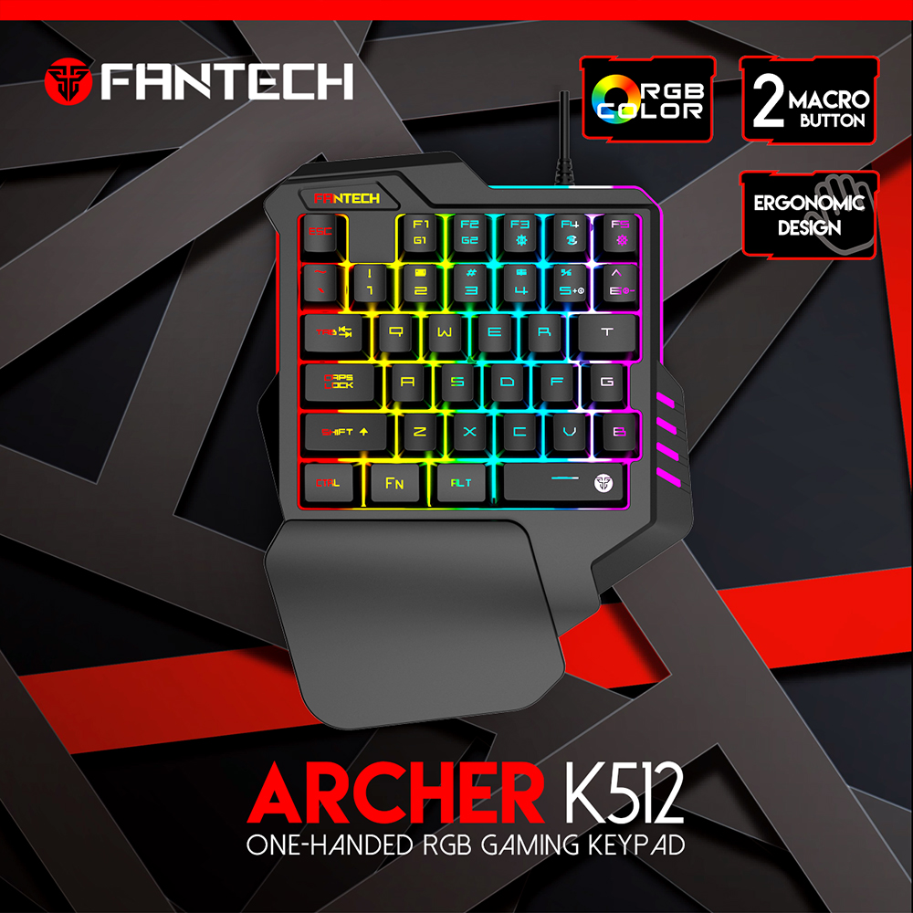 FANTECH K512 Archer One-Handed RGB Gaming keyboard - FANTECH